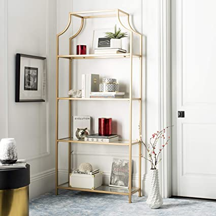 Terrific Safavieh Fox6298B Home Collection Slater 4 Tier Etagere Gold Home Interior And Landscaping Ymoonbapapsignezvosmurscom