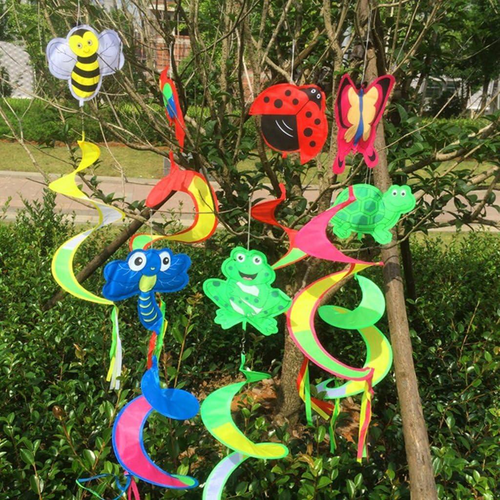 Tier Spirale Windmühle Wind Windsock Camping Garten Rasen Outdoor Spielzeug