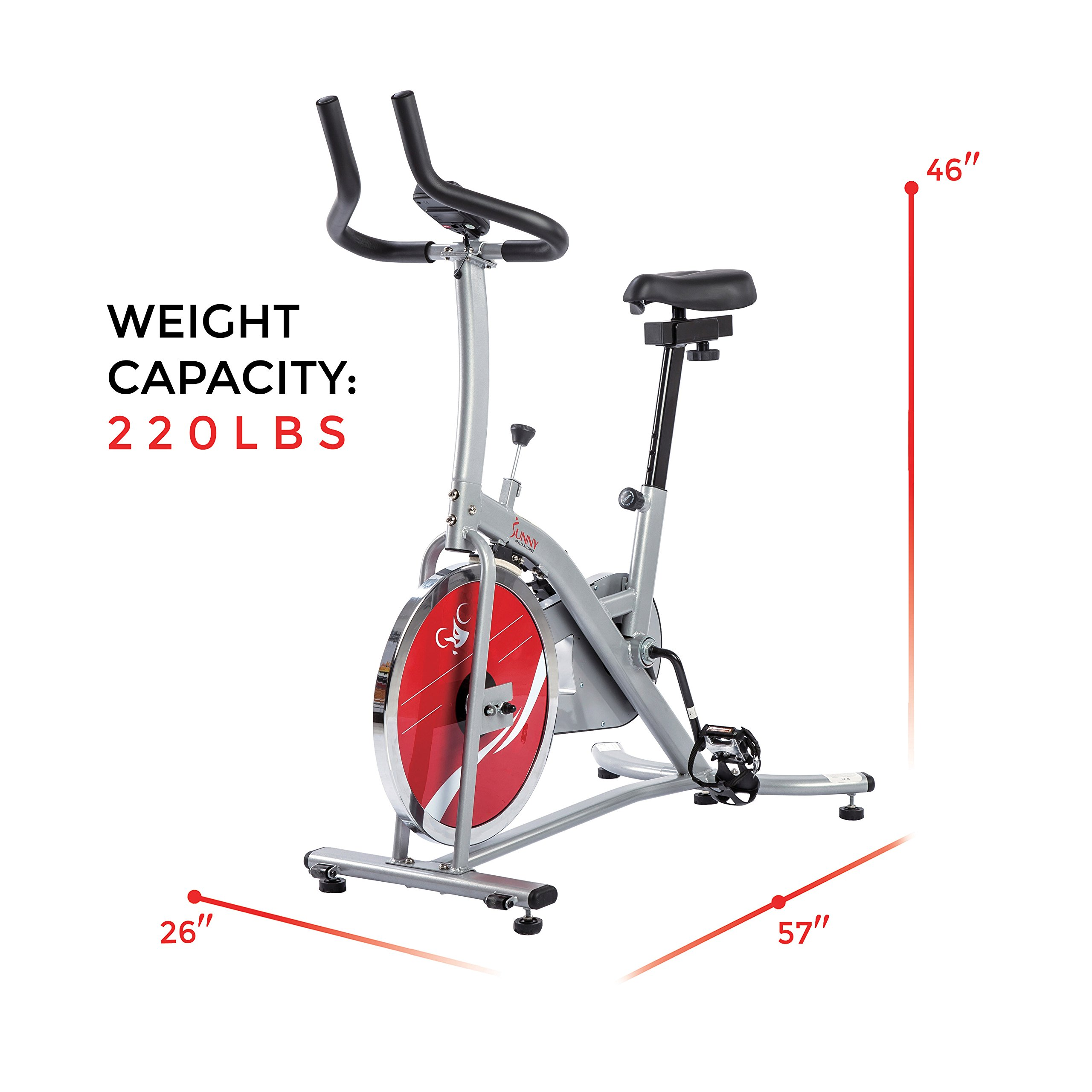 Sunny Health & Fitness Indoor Cycling Exercise Stationary Bike with Monitor and Flywheel Bike - SF-B1203 by Sunny Health & Fitness (Image #13)