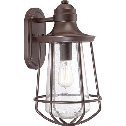 quoizel mre8409wt marine 1 light outdoor lantern western bronze