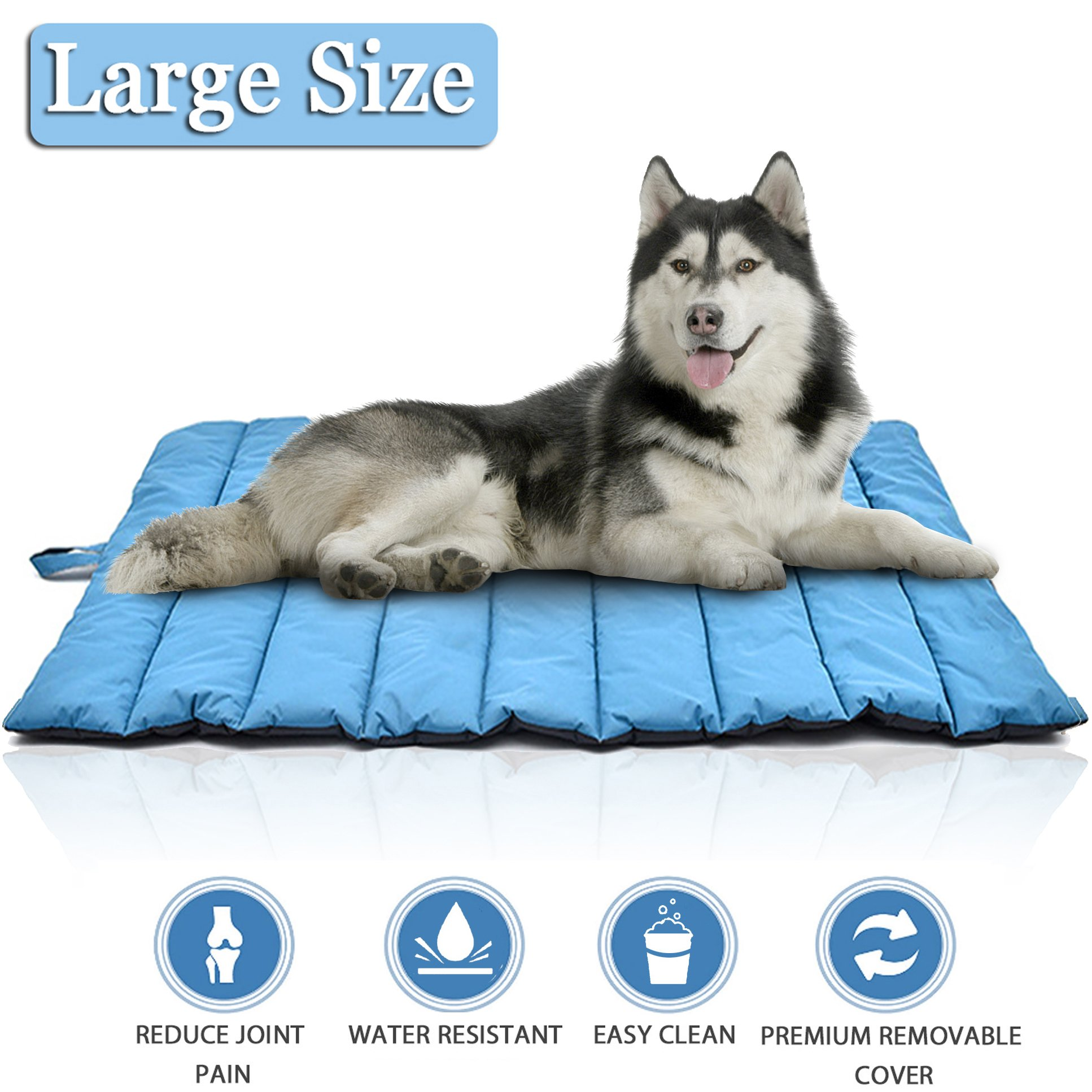 Lifepul Pets Bed Mat-Premium Ultra Soft Dog&Cat Bed Cover In Large Size, Water-Resistant Puppy Cat Bed Blankets for Indoor Outdoor Use - Perfect for Funiture, Floors, Car Seats, Lawn, Couches