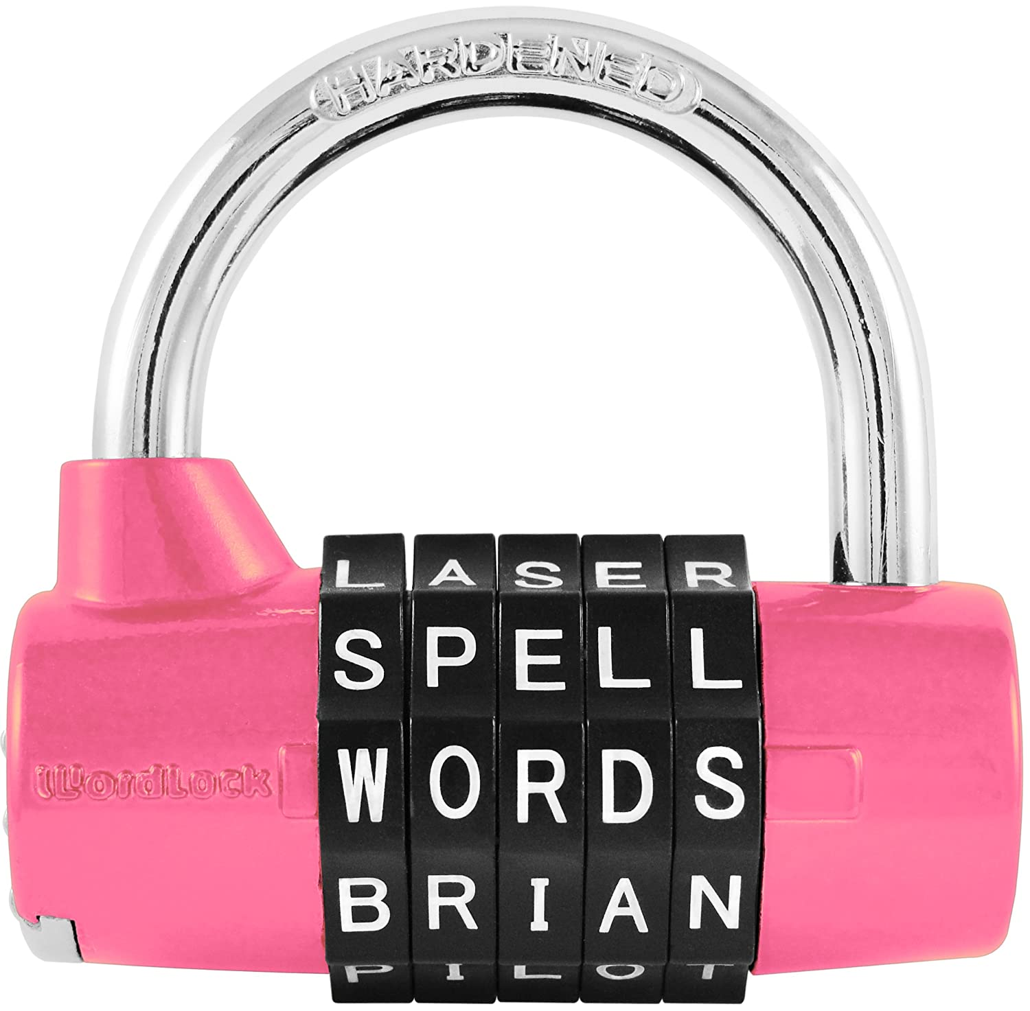 A lock that spells a word instead of using numbers!