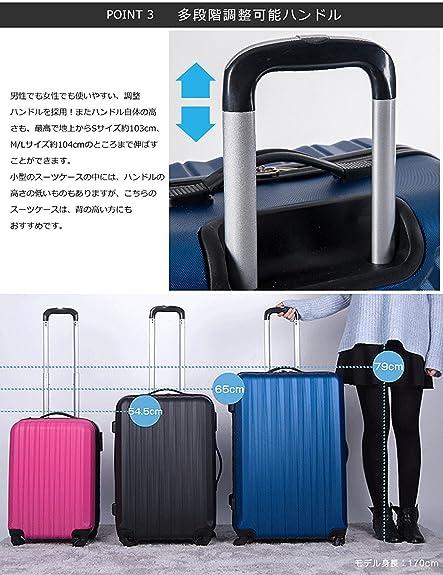 大型 サイズ 7日〜14日 L suitcase TANOBI RSD-999 スーツケース キャリーケース キャリーバッグ 1年間保証