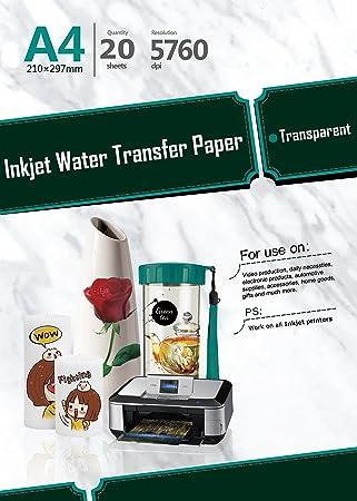Amazon.com: 20 hojas A4 de papel de transferencia de ...
