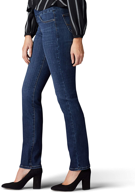 Lee Uniforms Womens Sculpting Fit Slim Leg Pull on Jean