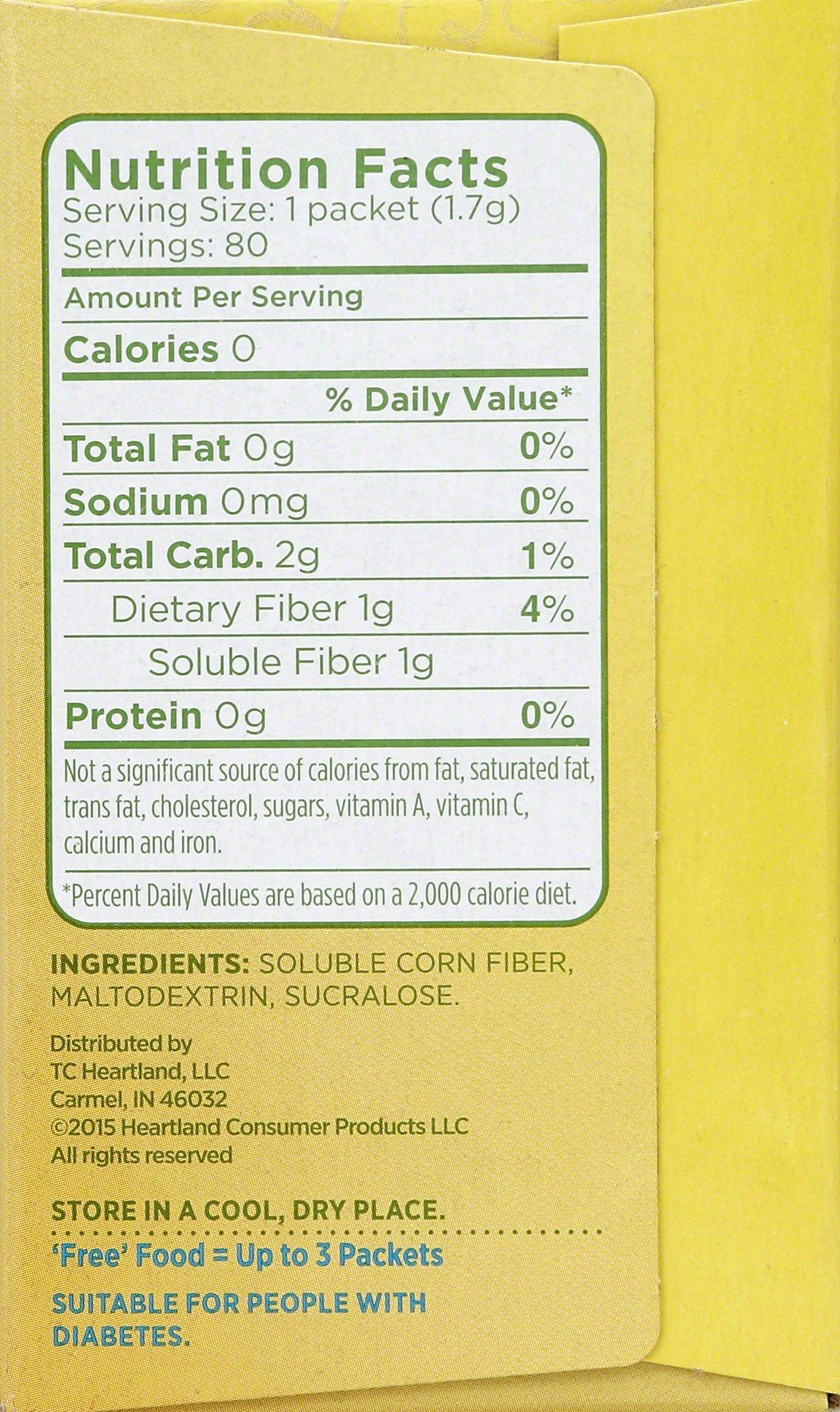 JOJ201800   Splenda No Calorie Sweetener with Fiber, Yellow, 80 Count (1G Fiber) by Splenda (Image #4)
