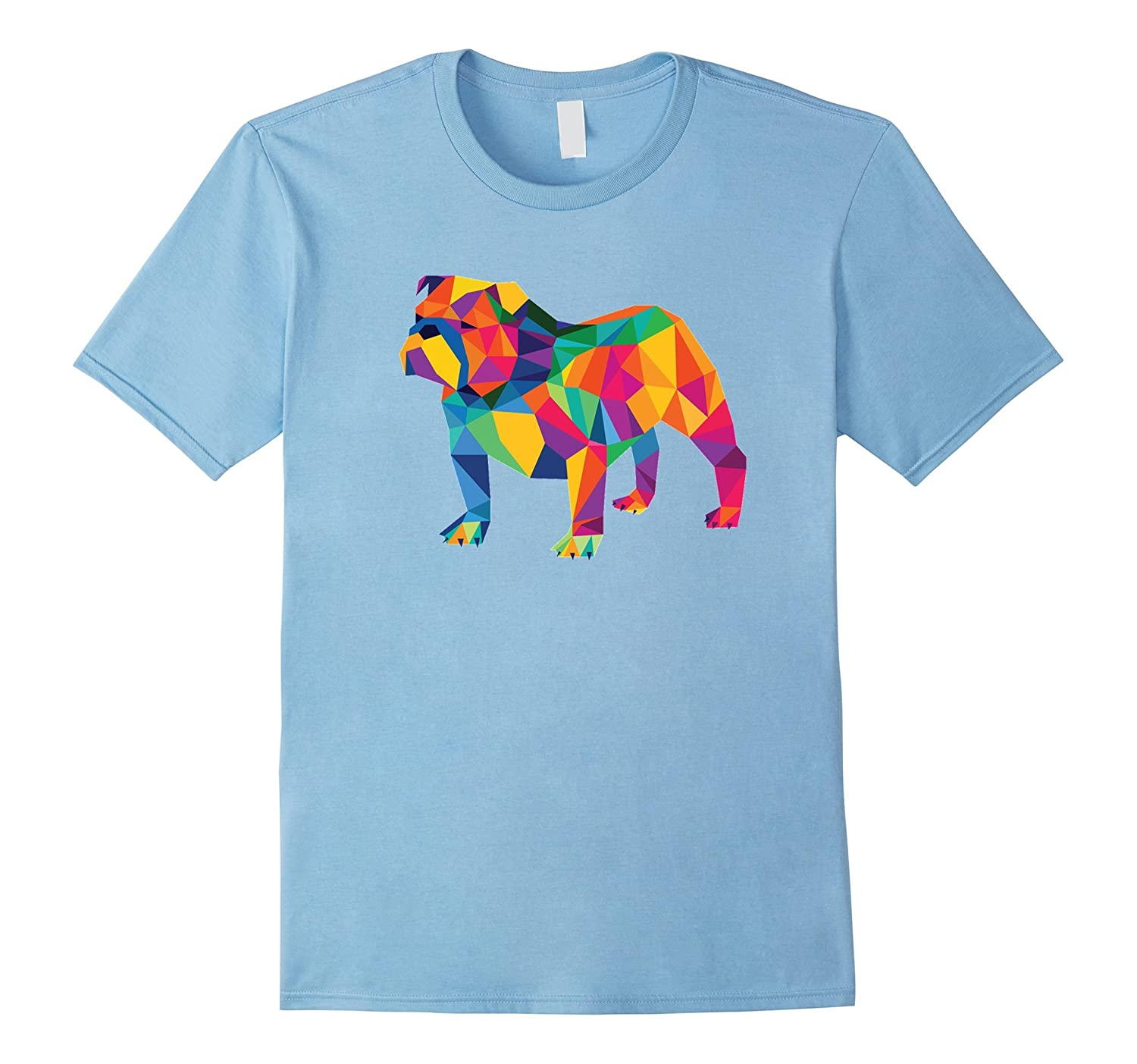 English Bulldog Geo Fractal T-Shirt-CD