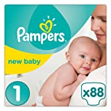 Pampers - New Baby - Couches Taille 1 ( 2-5 kg) - Pack Géant - (88 couches)