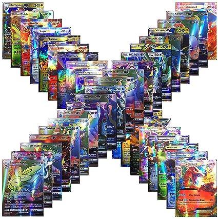 1 Energy 59 EX Arts 20 Mega 100 Poke Cards TCG Style Card Holo EX Full Art : 20 GX