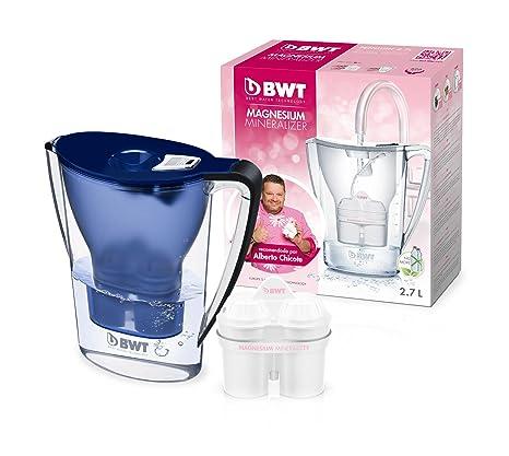 BWT Penguin Electrónica – Jarra filtradora de agua con magnesio 2,7 L Azul