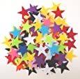 100 pc Mixed Color Assortment 1.5 inch Sticky Back Felt Stars