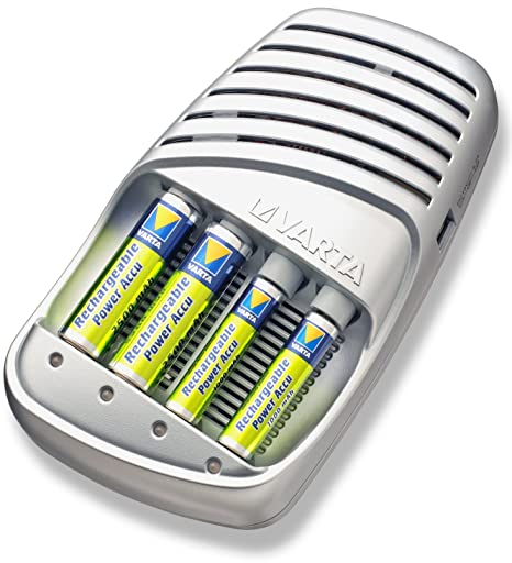 Varta 15-Minute - Cargador de batería ultrarrápido (incluye ...