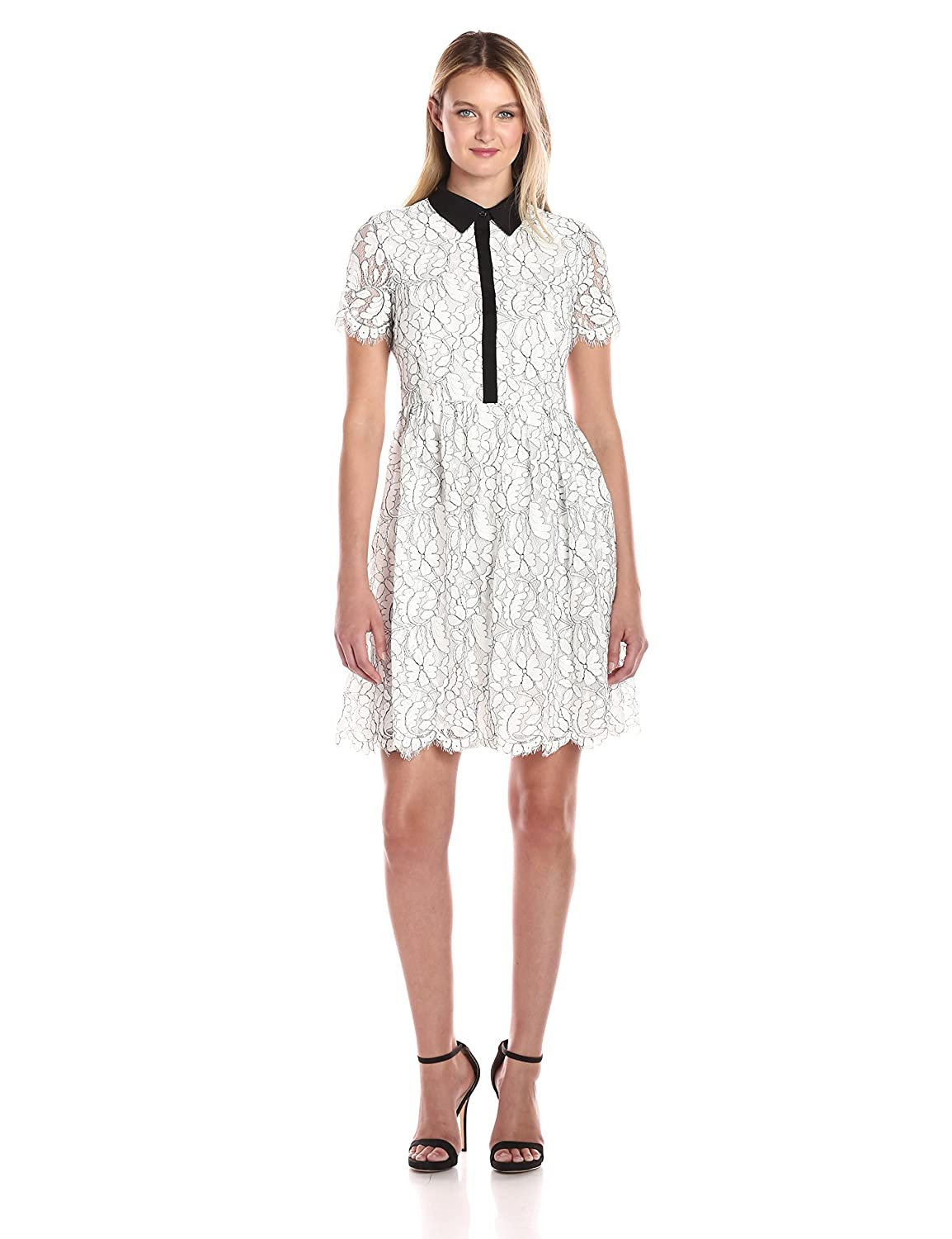 3118fc0e54a Tommy Hilfiger Womens Floral Outline Lace Shirt Dress | Toffee Art
