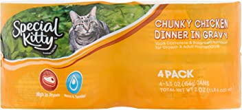 4e84a8c3a Special Kitty Chunky Chicken Dinner in Gravy Wet Cat Food, 5.5 Oz ea, 2