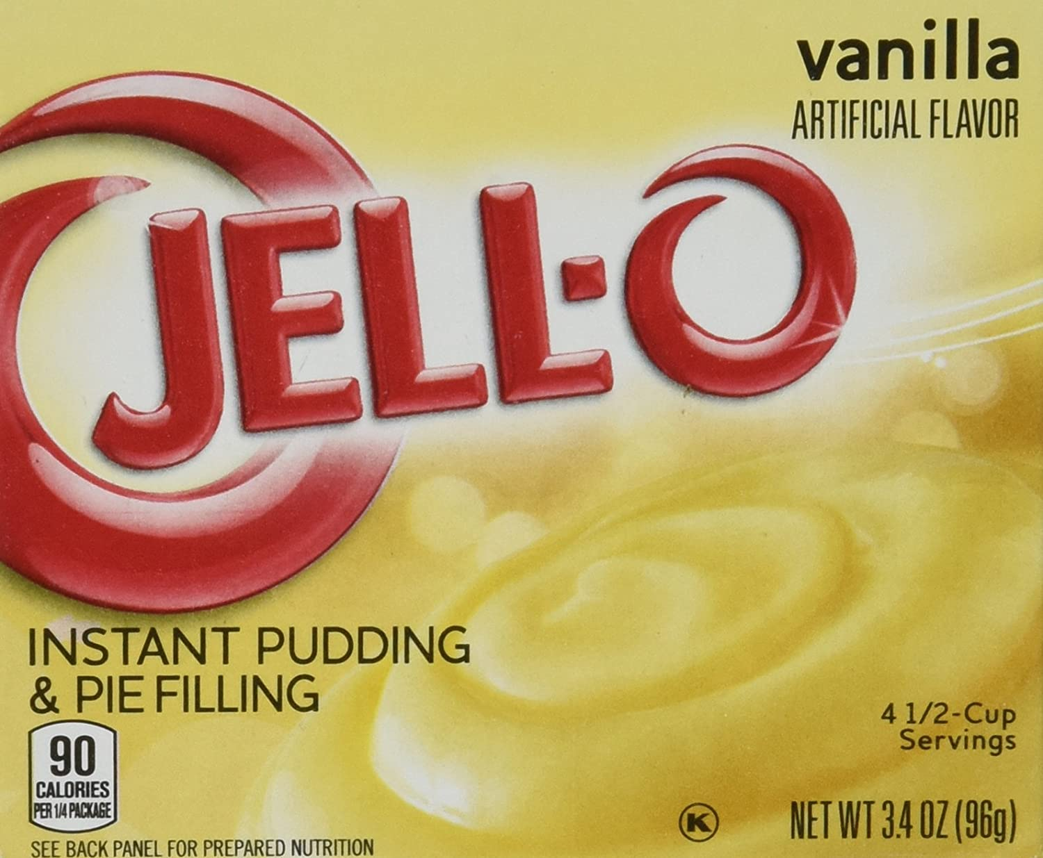 JELL-O Jello Instant Pudding and Pie Filling 4 Boxes (Vanilla)3 4 net oz