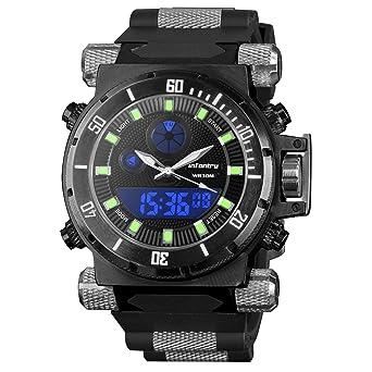 infantry® mens analogue digital wrist watch chronograph night infantry® mens analogue digital wrist watch chronograph night vision military black rubber strap oversize