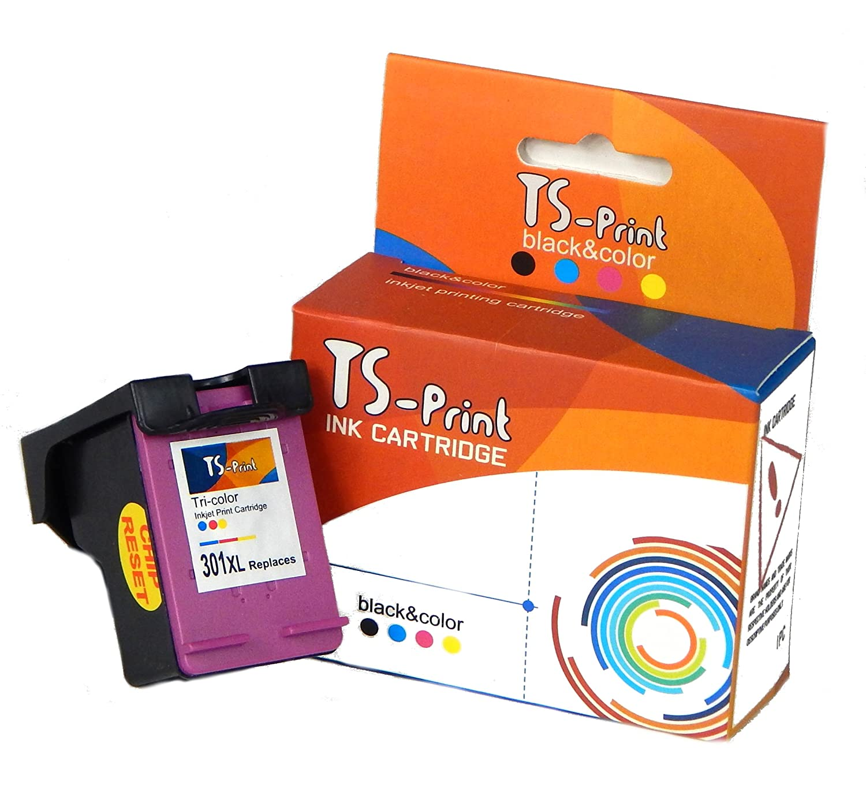 TS-Print 301XL 301 XL HP Remanufacturado Cartucho de Tinta Tricolor Deskjet 1000 1010 1510 2050A 2510 2540 3000 3010 3050 3050A 3057A 3510 Envy 4500 ...