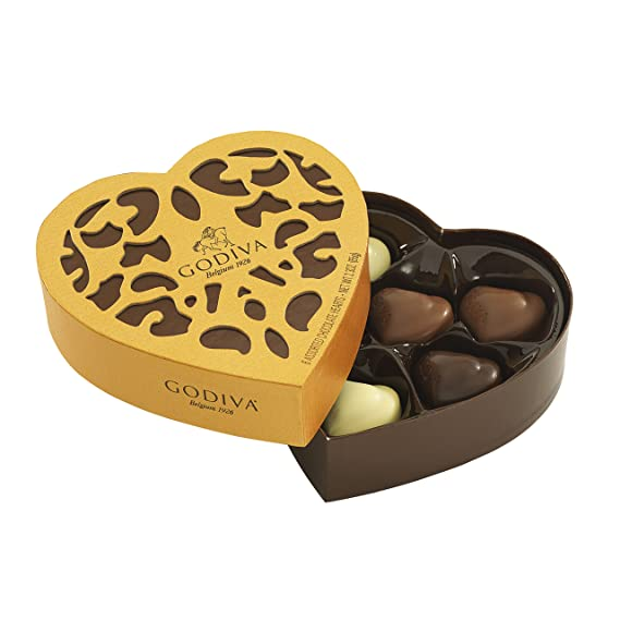 Godiva, Coeur Iconique bombones surtidos caja regalo corazón 6 ...