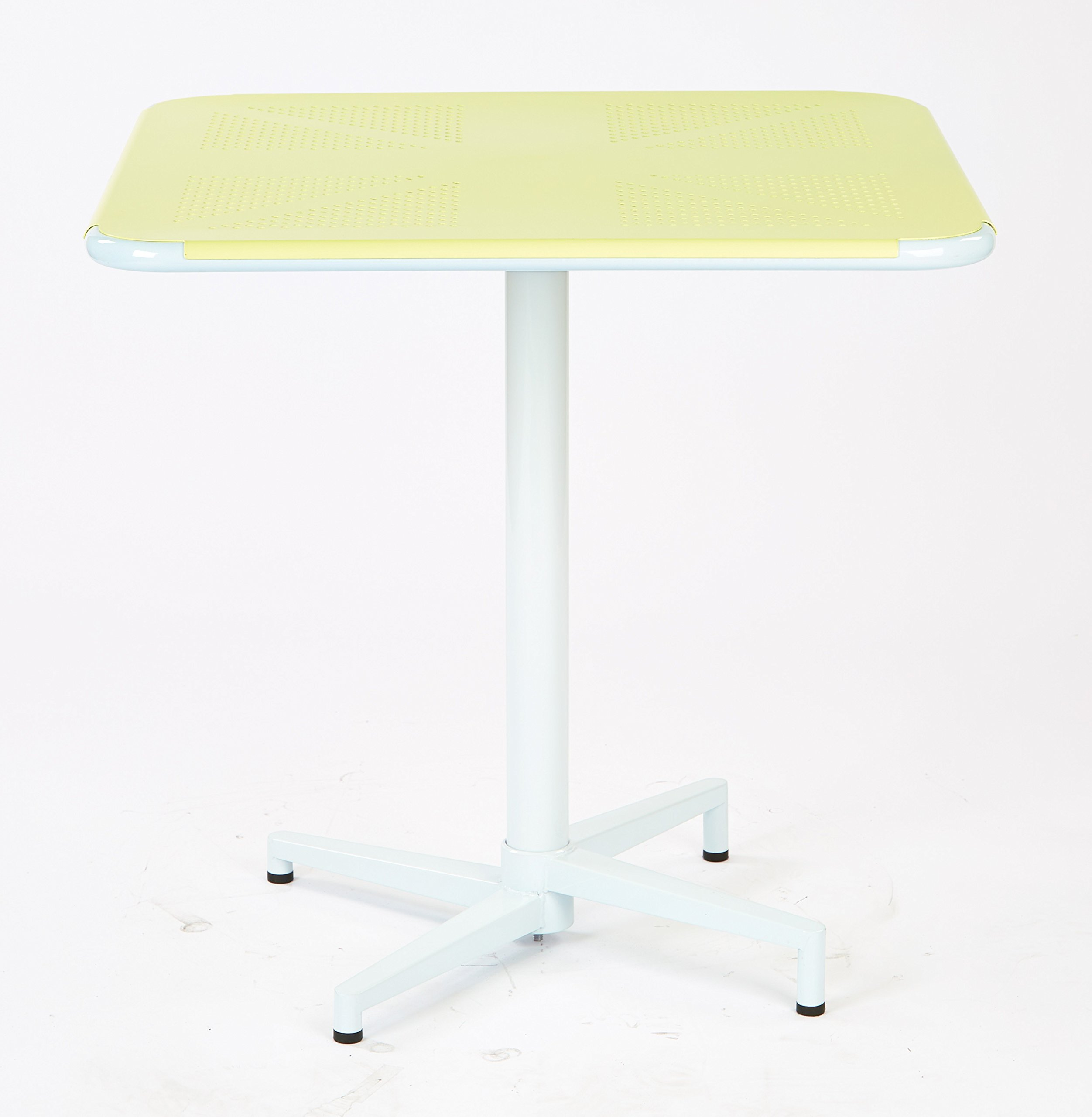 Work Smart/OSP Designs Albany 30'' Square Folding Table, Pastel Lemon by Work Smart/OSP Designs (Image #1)