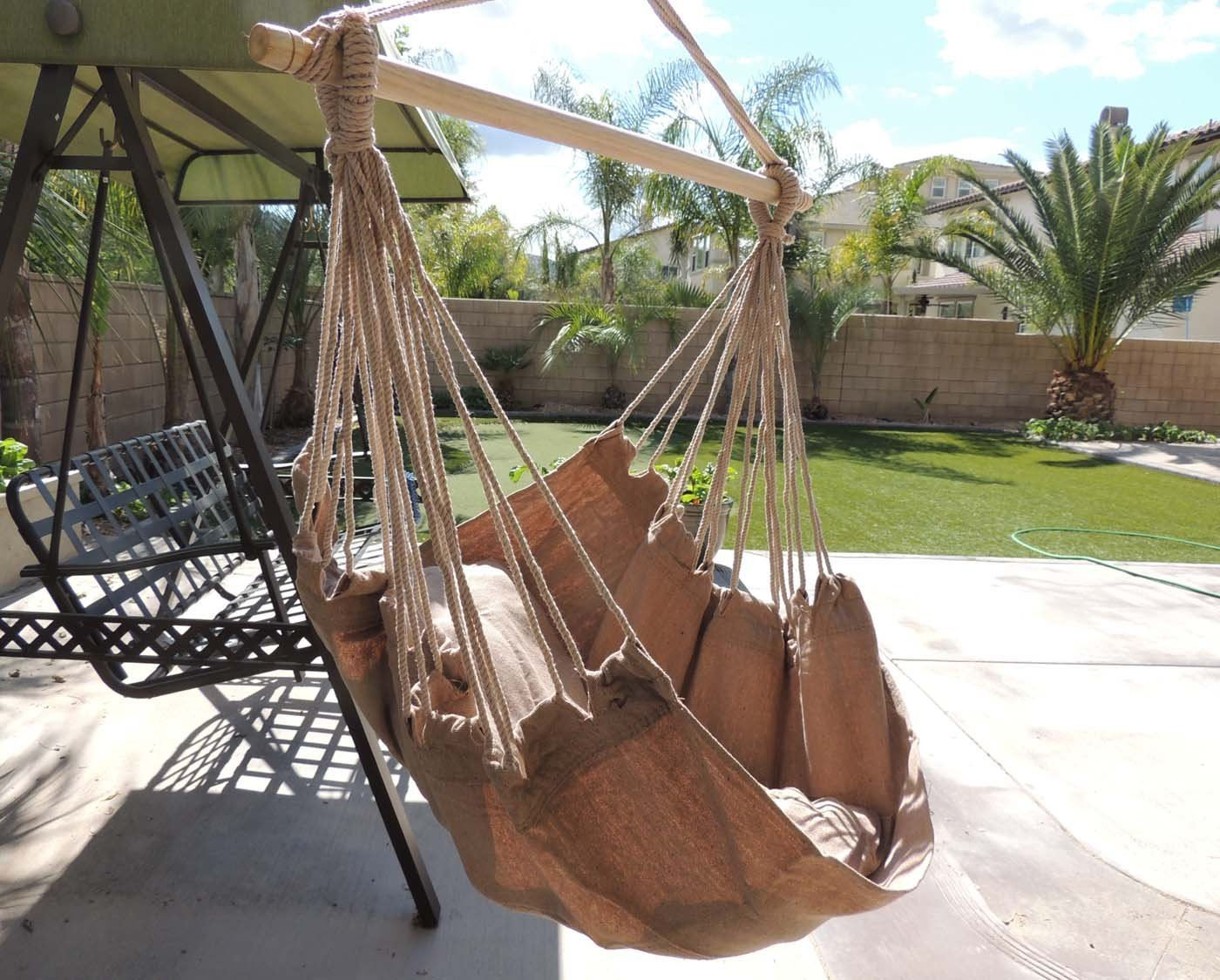 Chair Hanging Rope Hammock Swing Porch Outdoor Patio Seat