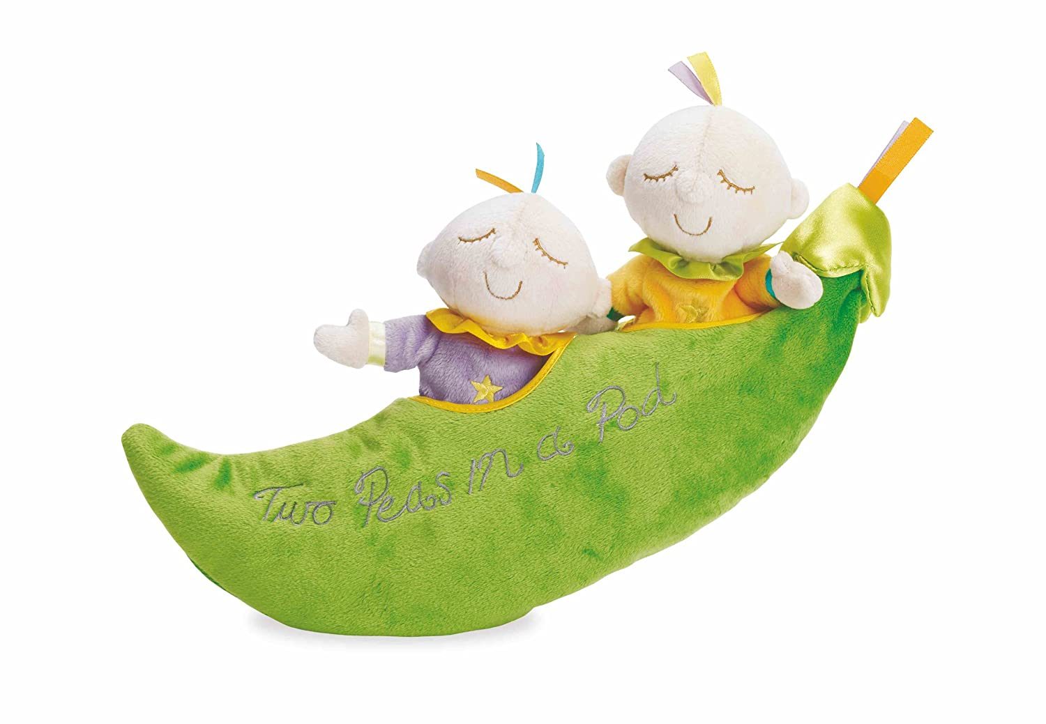 Manhattan Toy Snuggle Pods Two Peas In A Pod Soft Toy
