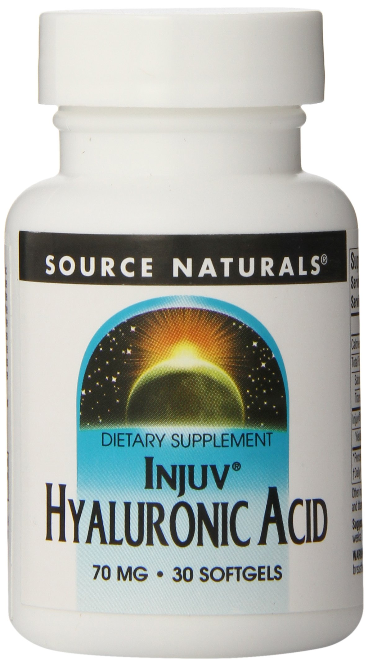 Source Naturals Hyaluronic Acid, 70mg, 30 Softgels (Pack of 12)