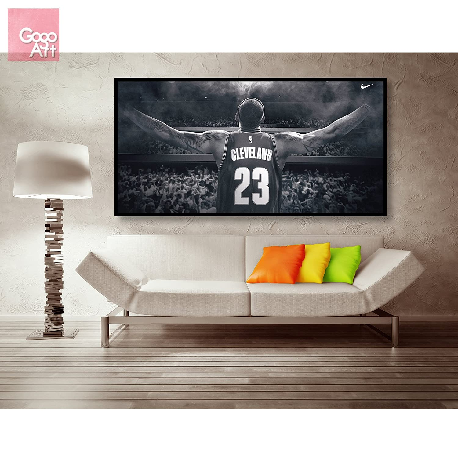 Amazon gogoart roll canvas print wall art panorama photo big amazon gogoart roll canvas print wall art panorama photo big picture poster modern no framed no stretched not oil painting nba lebron james king amipublicfo Image collections