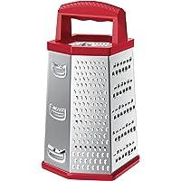 Ralador 6 Faces 9'' Vermelho, Prp5357-Vm, Euro, Inox