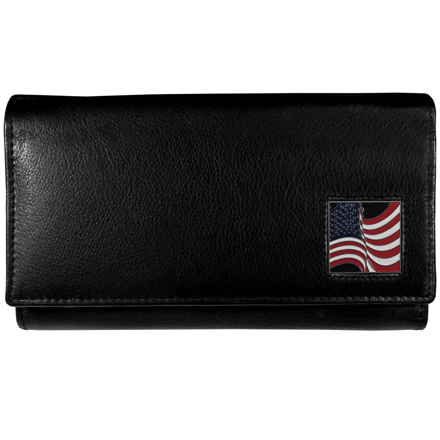 Womens Leather Wallet American Flag