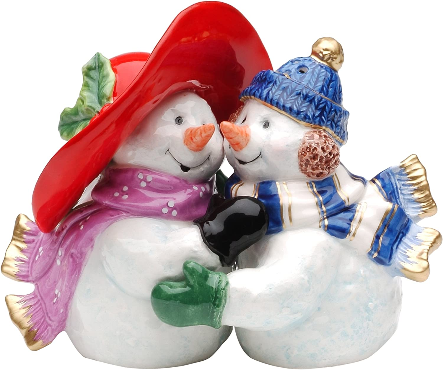 Cosmos Gifts 56515 Snowman Couple Salt And Pepper Set 3 1 2 Inch Salt And Pepper Shaker Sets Kitchen Dining