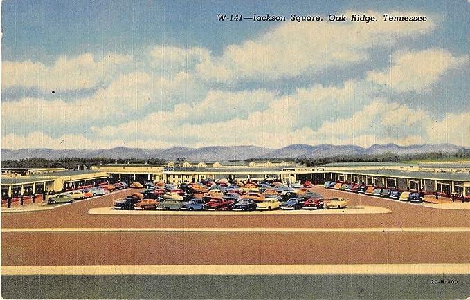 Oak Ridge Tennessee Jackson Square Birds Eye View Antique Postcard