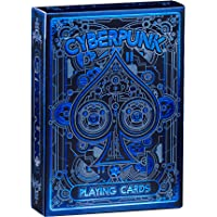 Cyberpunk Blue Playing Cards, Deck of Cards with Free Card Game eBook, Premium Card Deck, Cool Poker Cards, Unique…