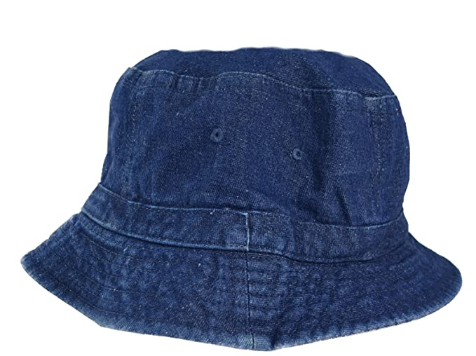 9987cff465 Amazon.com  Denim Bucket Hat for Adults-Small-Medium  Clothing