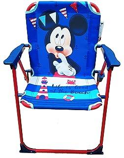 Takestop® silla plegable Mickey Mickey Ratón Disney azul rojo para niños infantil niño Camping dormitorio