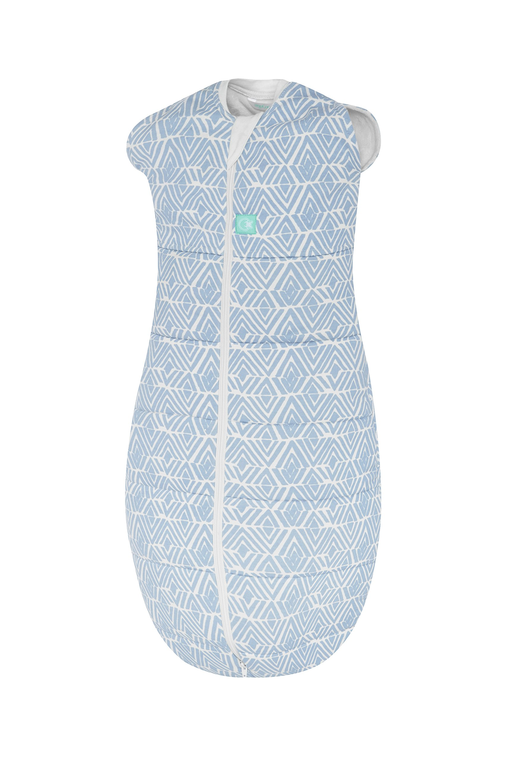 ergoPouch 2.5 Tog Swaddle and Sleep Bag, Tribal Blue, 3-12 Months