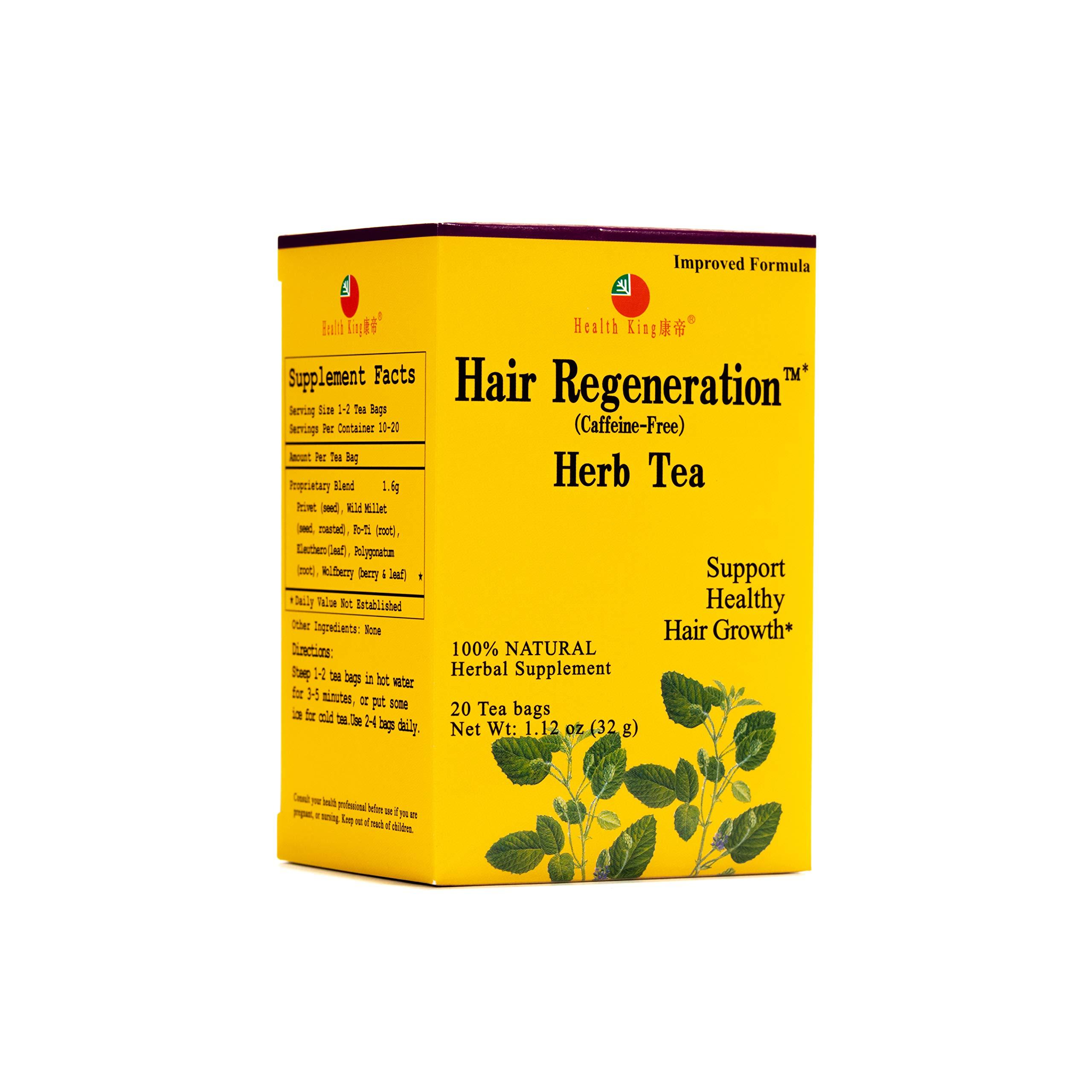 Health King Hair Regeneration Herb Tea, Teabags, 20 Count Box