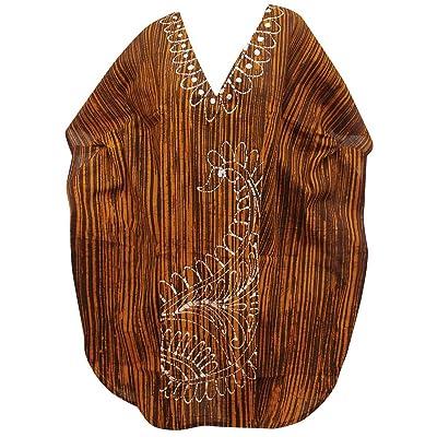 *La Leela* 100% des feuilles coton batik léger 5 en 1 hawaïen maillot bain maillot bain bikini beach party couvrir nightwear robe casual tunique femmes haut chemise nuit courte caftan, plus kimono