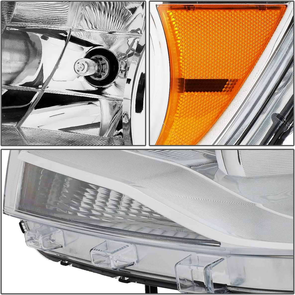 For 15-17 Chevy Colorado DNA Motoring HL-OH-CCO15-BK-CL1 Pair of Headlight