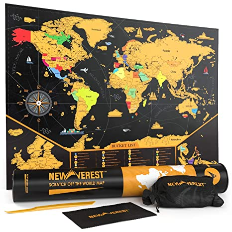 Amazon.com: NEWVEREST Scratch Off Map of The World, Detailed Travel on