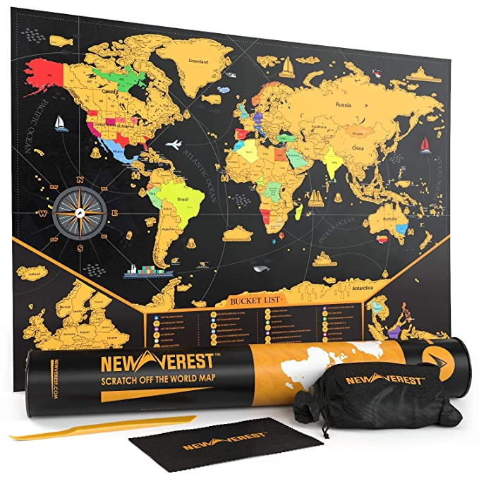NEWVEREST Scratch Off Map of The World, Detailed Travel Art Poster, on unique fashion design, unique animals design, unique white design, unique home design, unique clock design, unique character design, unique art design, unique architecture design, unique country design,