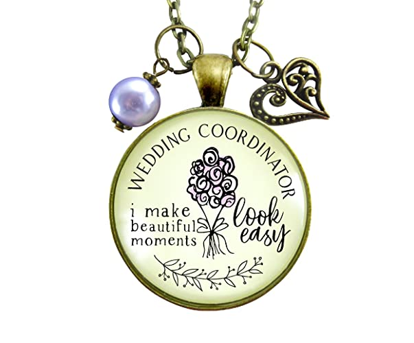 24 Wedding Coordinator Necklace I Make Beautiful Moments Thank You Gift To Planner From Bride