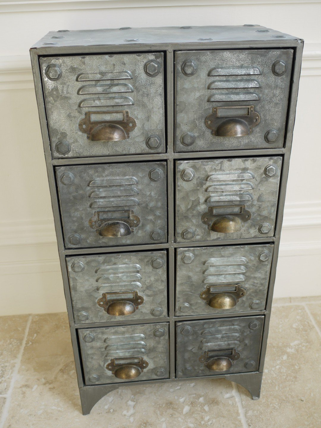 Industrial Style Aged Metal Drawer Chest Cabinet: Amazon.co.uk: Kitchen U0026  Home Amazing Pictures