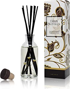 Urban Naturals Seaside Cotton Reed Diffuser Scented Sticks Set | (Peace + Harmony) Mind & Body Aromatherapy Collection | Essential Oil Botanical Room Scent