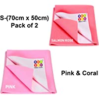 Bey Bee Water Resistant Bed Protector Baby Dry Sheet with Ultra absorbance (Pink/Coral)