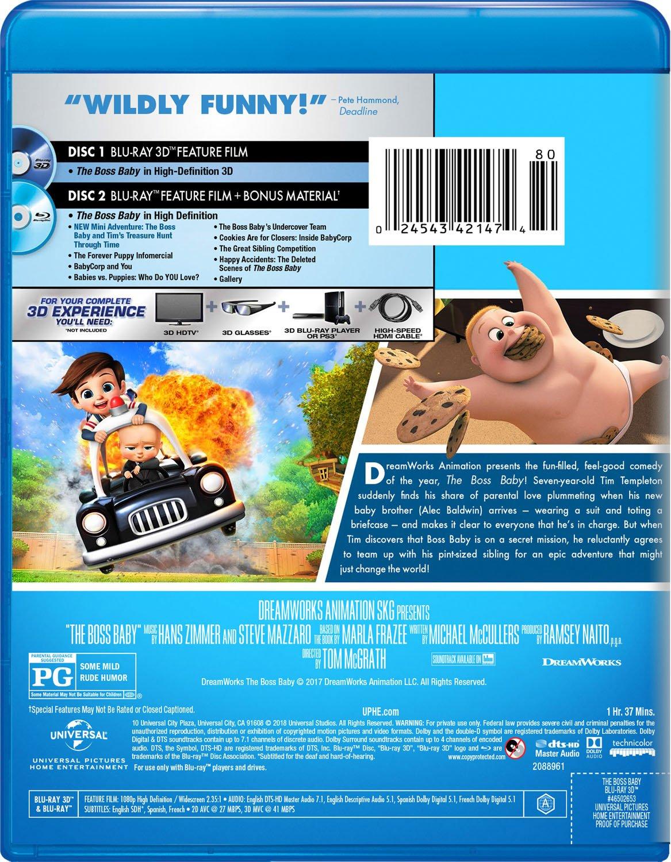 Amazon Com Boss Baby 3d 3d Blu Ray Blu Ray Uv Digital