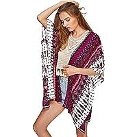 9a05ae02f7 SweatyRocks Women Kimono Vintage Floral Beach Cover Up