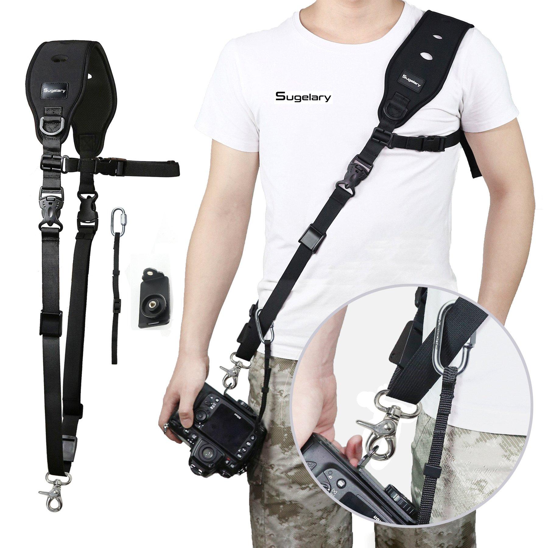 Camera Strap, Sugelary Camera DSLR Shoulder Neck Strap for Canon Nikon Sony DSLR SLR Mirrorless Camera …