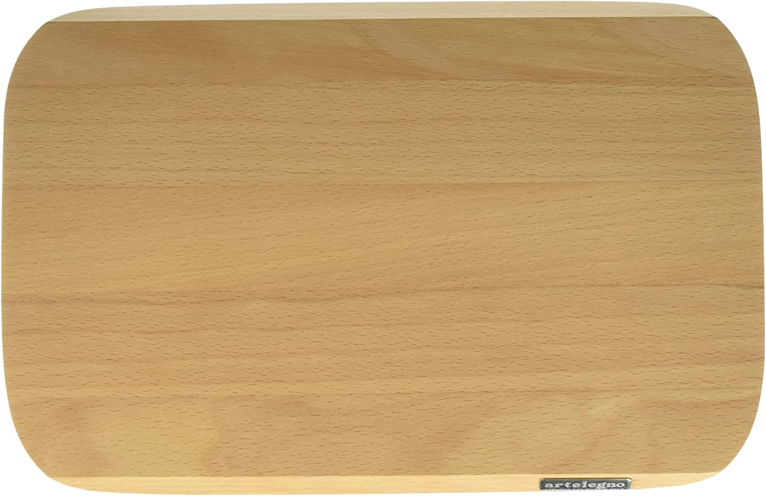 Ecofriendly Small Luxurious Italian Siena Collection by Master Craftsmen Natural Finish Artelegno Solid Beech Wood Cutting Board