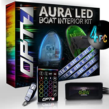 OPT7 Boat Interior Glow LED Lighting Kit | Multi Color Accent Neon Strips W/