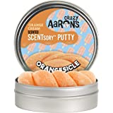 Crazy Aaron's Thinking Putty - Scentsory Treat: Orangesicle - Fidget Toy for All Ages - Stretch, Play and Create - Orange Cr